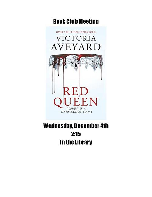 Book Club Red Queen Wed Dec 4th