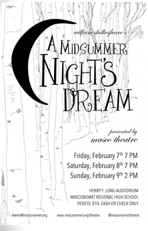 A Midsummer Night's Dream flier