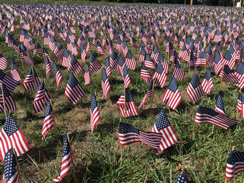 9/11 Memorial displayed by Masco students helps to remind us of the almost 3,000 lives lost on September 11, 2001.