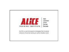 ALICE Information Session Video