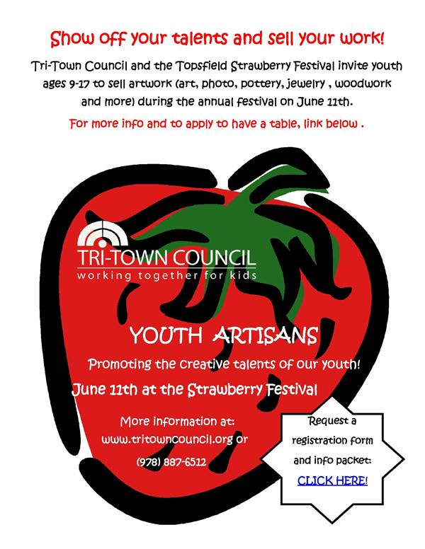 Youth Artisans- Sell Your Artwork at the Strawberry Fesival